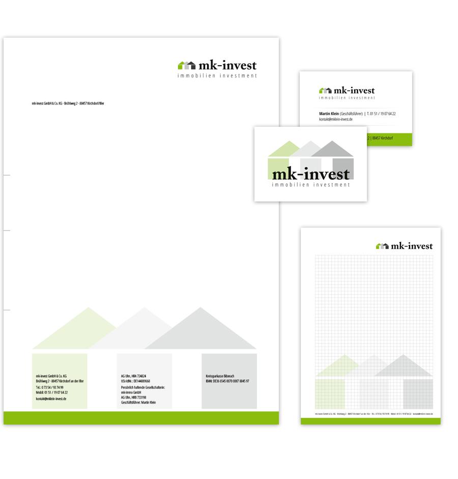 Geschäftsdrucksachen in Kempten / Allgäu erstellen lassen (Briefpapier / Visitenkarten)