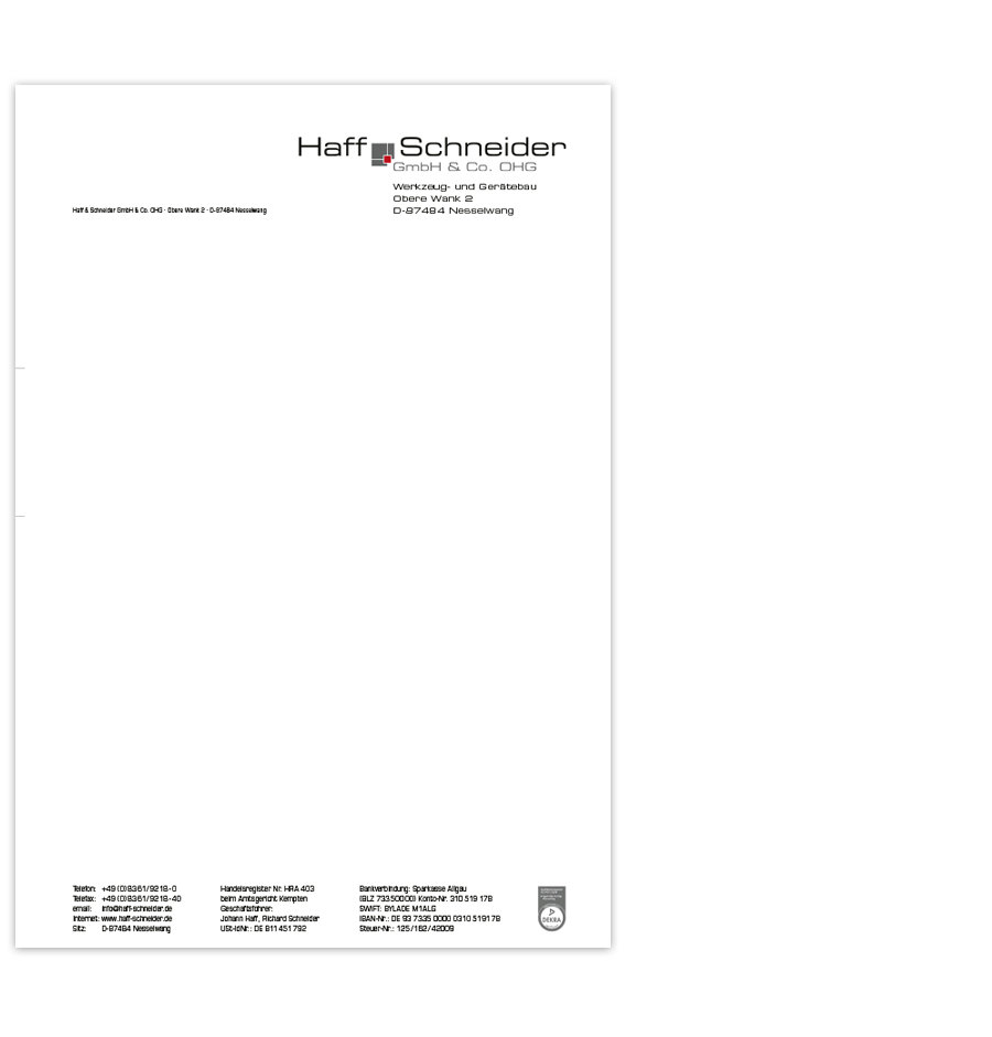 Briefbogen erstellen lassen in Kempten