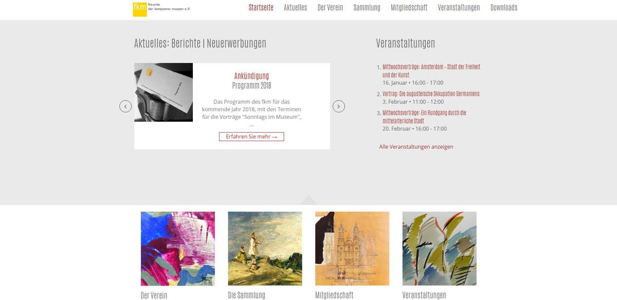 Homepage / Internetseite erstellen lassen in Kempten