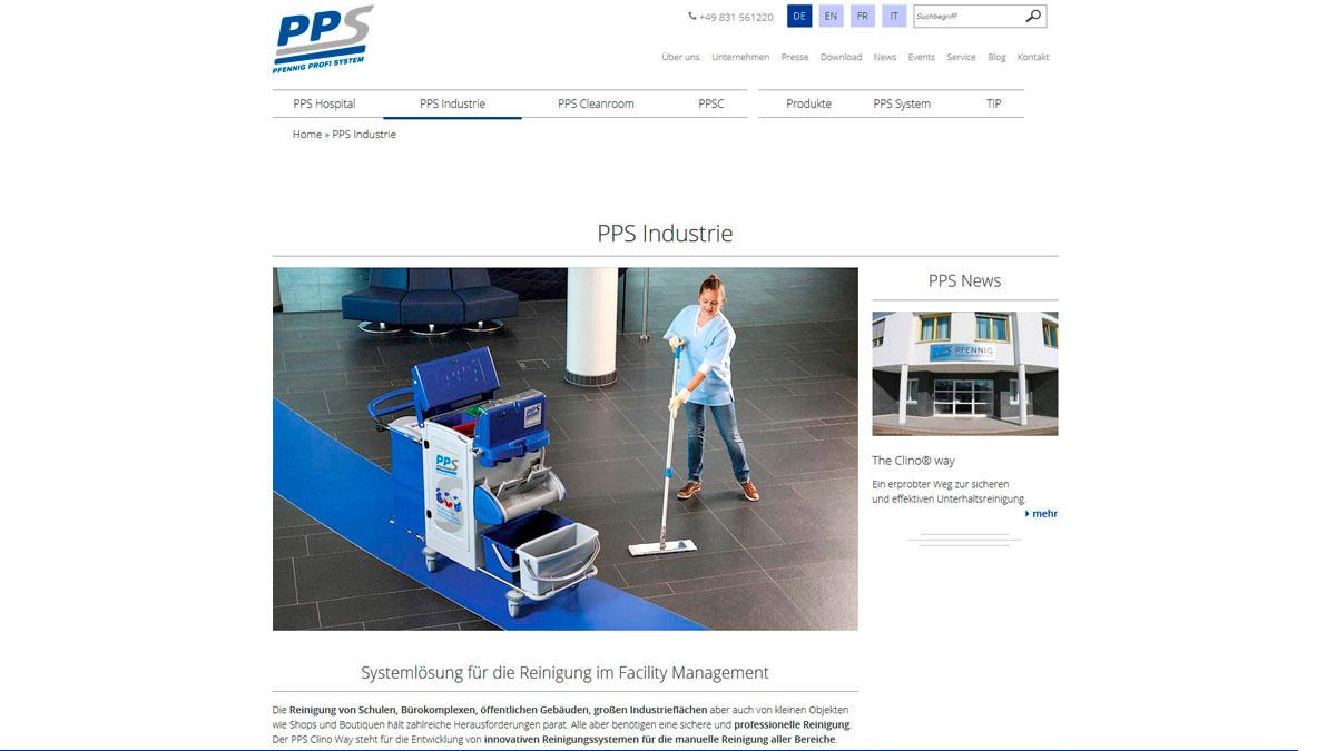 responsive Internetseite für PPS