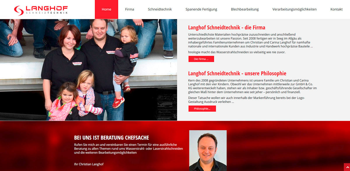 Responsive Webseite, Werbeagentur